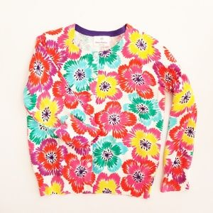 Hanna Andersson Girls Flower sweater cardigan